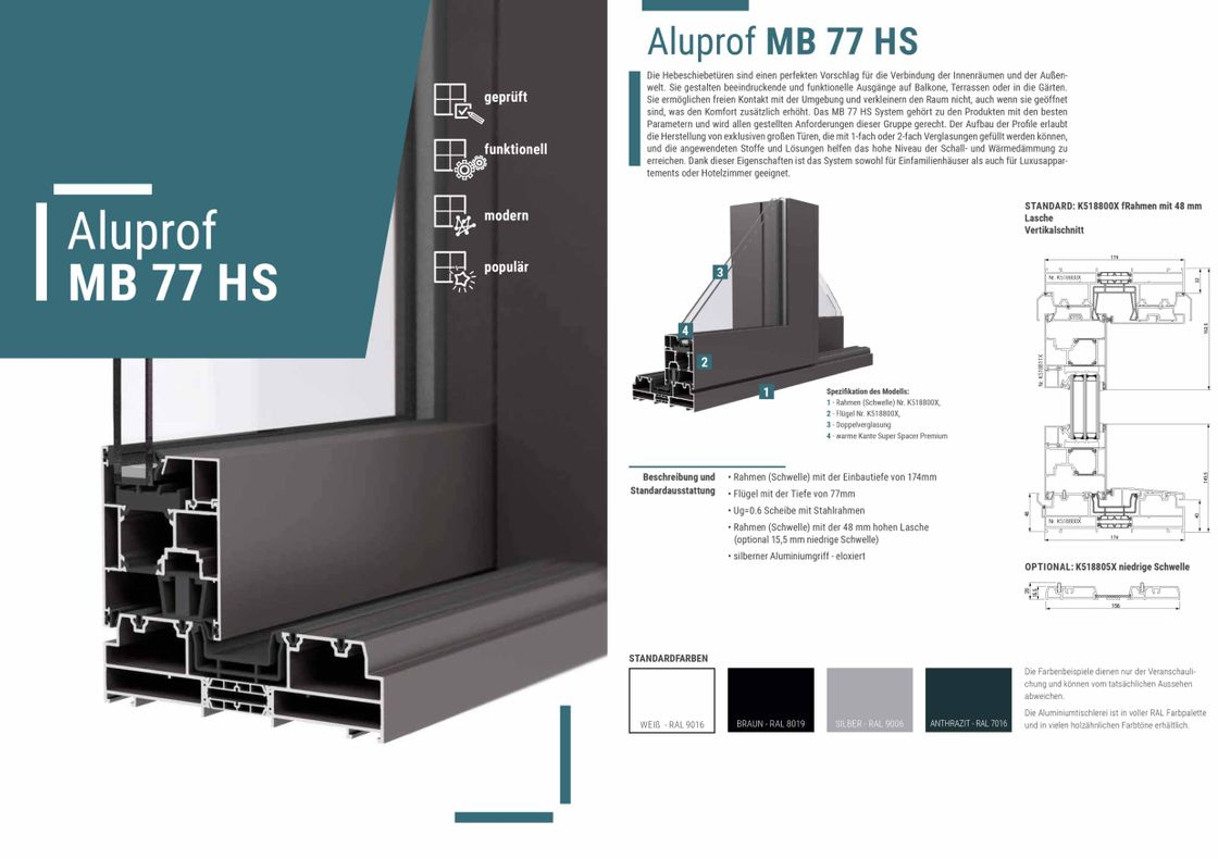 Aluprof MB 77 HS Alufenster
