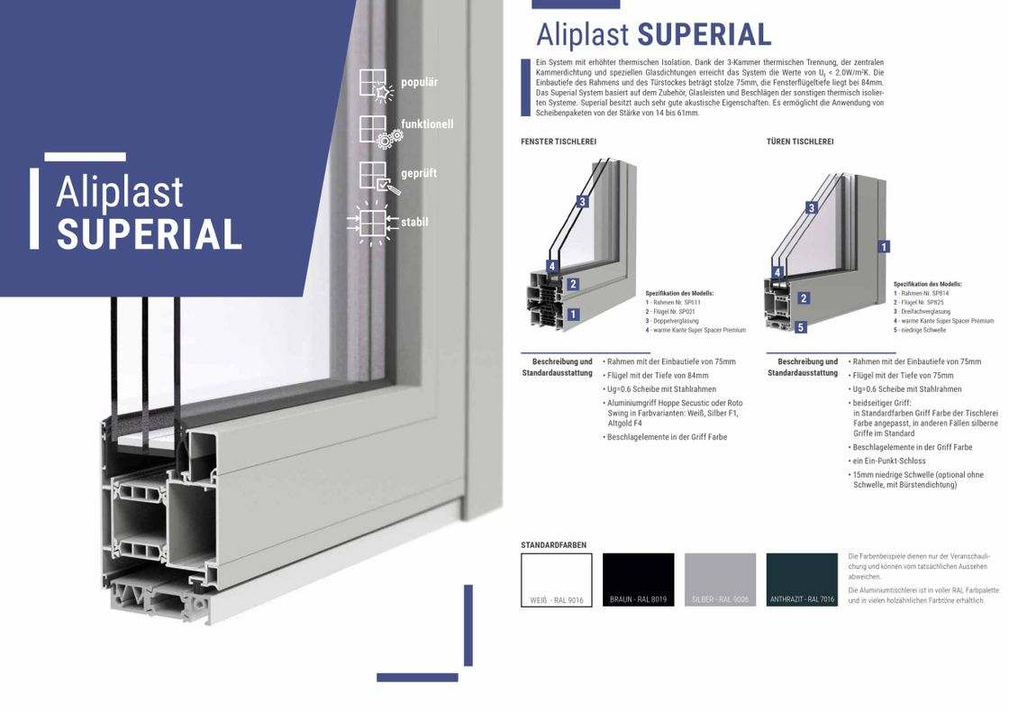 Aliplast Superial Alufenster
