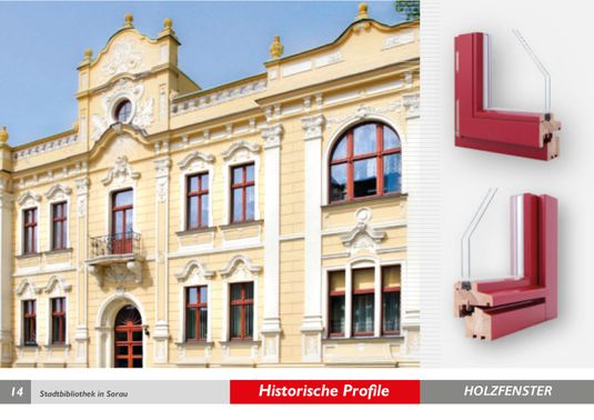 Historische Profile Holzfenster