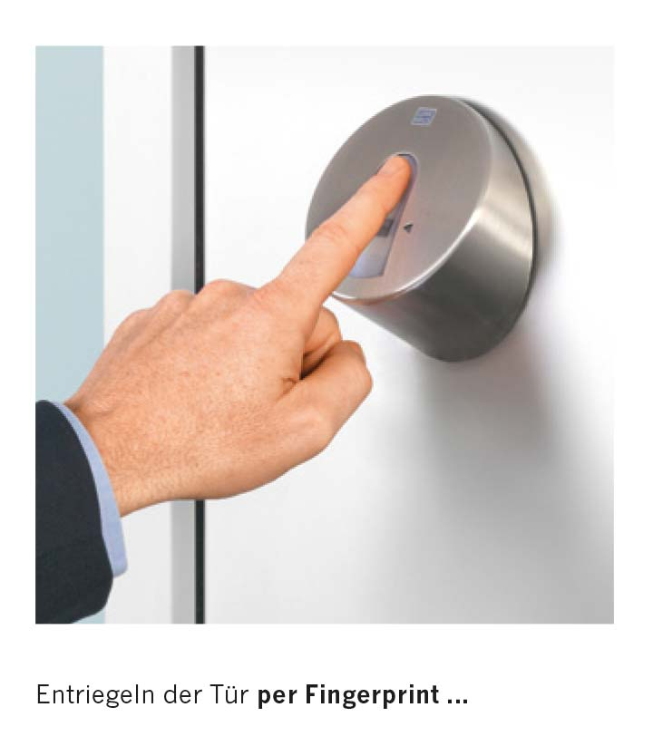 Entriegelung per Fingerprint